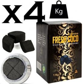 Lot de charbons naturels fresh coco 4kg