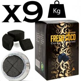 Lot de charbon naturel fresh coco par 9Kg