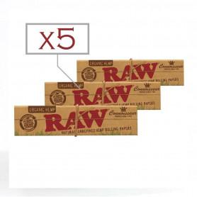 Feuilles Slim Raw avec filtres cartons par 5