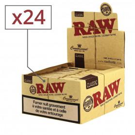 Feuilles Slim Raw avec filtres cartons Par 24