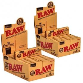 Feuilles Slim Raw avec filtres cartons Par 48