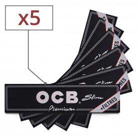 Feuilles Slim OCB + Tips par 5