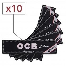 Feuilles Slim OCB + Tips par 10