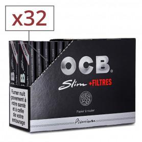 Feuilles Slim OCB + Tips par 32