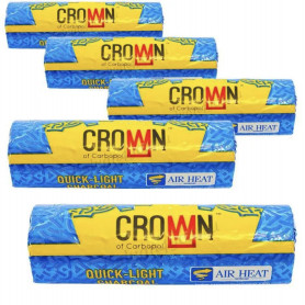 Carbopol Crown 40mm 5 sachets de 10 charbons (50 charbons)