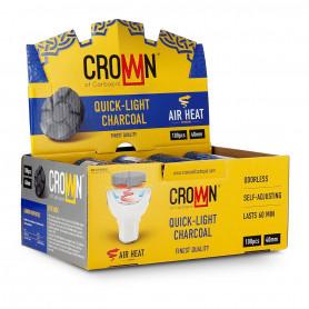 Carbopol Crown 40mm 1 Boite complète de 10 x 10 sachets (100 charbons)