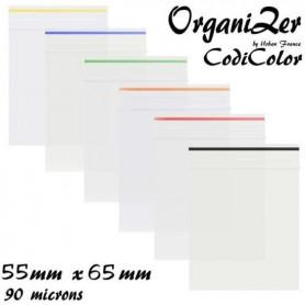 Sachet Zip 55x65mm 90 microns a Codification Couleur Orange