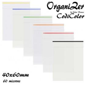 Sac plastique OrganiZip Codicolor 40x60mm 60 microns Orange