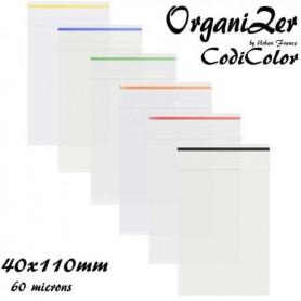 Sac plastique OrganiZer Codicolor 40x110mm 60 microns Yellow