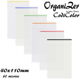 Sac plastique OrganiZer Codicolor 40x110mm 60 microns Black