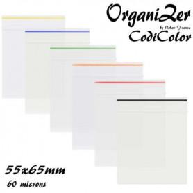 Sac Zip OrganiZer Codicolor 55x65mm 60 microns Orange