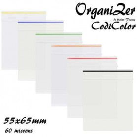Sac Zip OrganiZer Codicolor 55x65mm 60 microns Black
