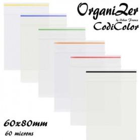 Pochon Zip OrganiZer Codicolor 60x80mm 60 microns Red