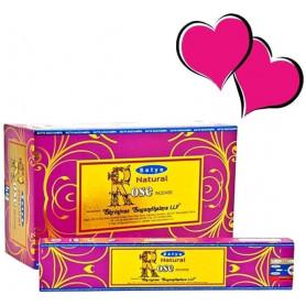 Encens indien aphrodisiaque Rose Satya Sai Baba 2x (24 batons)