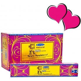 Encens indien aphrodisiaque Rose Satya Sai Baba 8x (96 batons)
