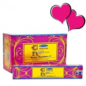 Encens indien aphrodisiaque Rose Satya Sai Baba 12x (144 batons soit 1 boite complète)