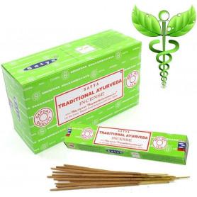 Encens indien médicinal Traditional Ayurveda Satya Sai Baba 2x (24 batons)