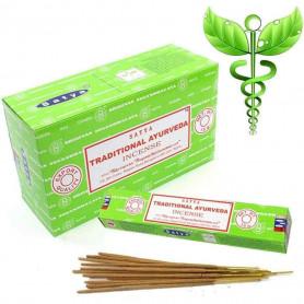Encens indien médicinal Traditional Ayurveda Satya Sai Baba 12x (144 batons soit 1 boite complète)