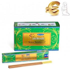 Encens indien fertilité et richesse Patchouli Satya Sai Baba 12x (144 batons soit 1 boite complète)