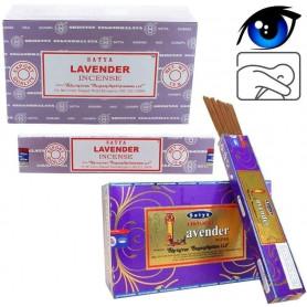 Encens indien calme et clairvoyance Lavande Satya Sai Baba 2x (24 batons)