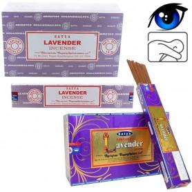 Encens indien calme et clairvoyance Lavande Satya Sai Baba 4x (48 batons)