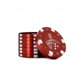 Grinder poker Vegas 3 parties 40mm pollinator Red