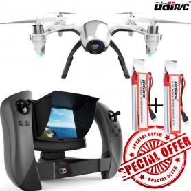 Pack Drone KESTREL UDI RC U28-1 + 2 Batteries pour 20 à 30 minutes de vol