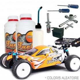 Pack Complet Buggy Thermique avec Carburant Modelisme et Starter Kit