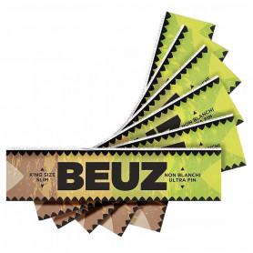 Feuilles slim Beuz brown par 5