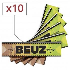 Feuilles slim Beuz brown par 10