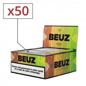 Feuilles slim Beuz brown par 50