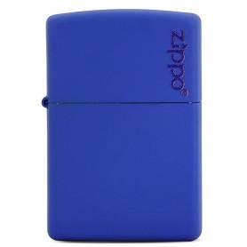 Briquet Zippo bleu matte Logo