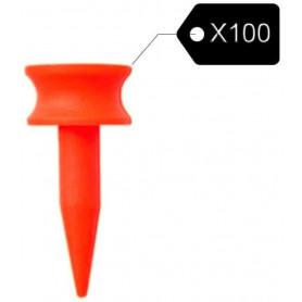 Lot de 100 Castle Tees Golf Orange 5mm