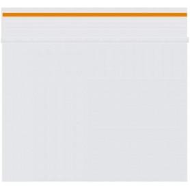 Lot de 100 sachets Zip 80 x 60 mm 90 microns Orange