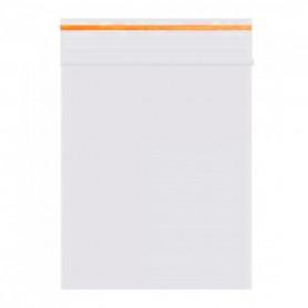 Pack Lot de 100 sachets Zip 55 x 65 mm 60 microns Orange