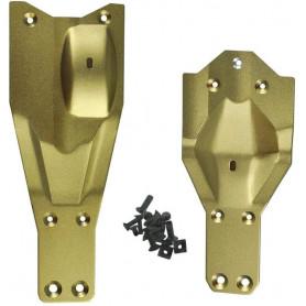 Renfort Gearbox en aluminium pour AM10T Extreme et VKAR Racing Bison