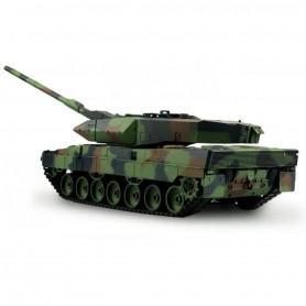Char d'assaut radiocommandé Panzer Leopard 2 A6 1/16 ème 2.4 Ghz avec son et fumée