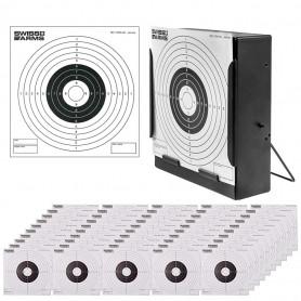 Pack Porte cible en métal avec 150 cibles de tir en carton