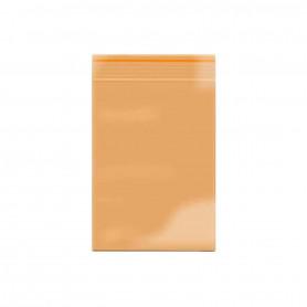 Lot de 100 sachets Zip 40x60mm 60 microns Orange