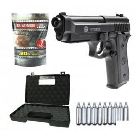 Pack Airsoft Pistolet Taurus PT92 Co2 + Mallette + Billes + Gaz Co2