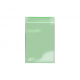 Lot de 100 sachets Zip 40x60mm 60 microns Vert
