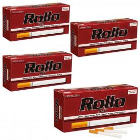 Pack Lot de 4 boites de 200 tubes à cigarette Rollo Red Ultra Slim