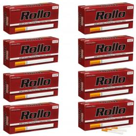 Pack Lot de 8 boites de 200 tubes à cigarette Rollo Red Ultra Slim