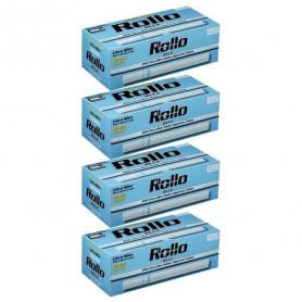 Lot de 4 boites de 200 tubes à cigarette Rollo Blue Ultra Slim