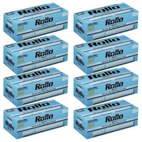 Lot de 8 boites de 200 tubes à cigarette Rollo Blue Ultra Slim