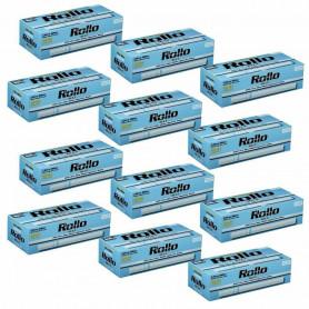 Lot de 12 boites de 200 tubes à cigarette Rollo Blue Ultra Slim