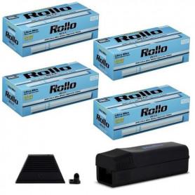 Pack Tubeuse Rollo Ultra Slim et 4 boites de tubes Rollo Blue Ultra Slim