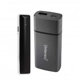 Pack Briquet USB Soft Touch Noir avec résistance et chargeur externe autonome
