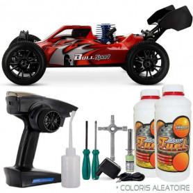 Pack complet Buggy Thermique BlackBull 3.5 1/8 ème + Carburant modélisme + Starter kit