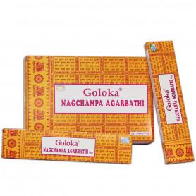Boîte complète d'encens original Goloka Nagchampa par 12